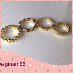 4 pcs set of Gold rings